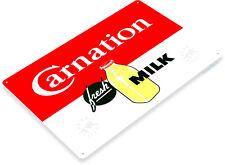 TIN SIGN Carnation Retro Milk Sign Parlor Kitchen Farm Cottage Store A036