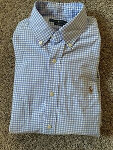 Mens Ralph Lauren Classic Fit Long Sleeve Button Up Shirt Size S