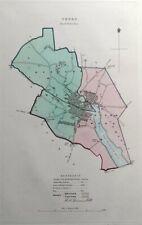 TRURO, CORNWALL, UK, Street Plan, Dawson Original antique map 1832