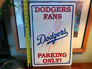 Vintage SIGN 1996 Dodgers Fans Parking Only Memorabilia RARE ManCave NICE
