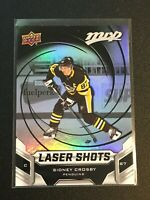 F63551  2019-20 Upper Deck MVP Laser Shots #S6 Sidney Crosby PENGUINS