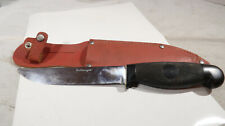 Cattaraugus Fixed Blade Knife with Leather Sheath
