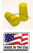 YELLOW ELECTRICAL WIRE CONNECTOR TWIST NUT (100 PCS) 18-12 GA. SPRING INSERTS