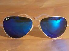 Ray Ban RB3026 62MM Aviator Unisex Sunglasses Gold Frame/Blue Mirror Lens