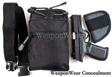 Large Black Belt Pistol Pack Holster & Belt Strap Included Ambidextrous Unisex