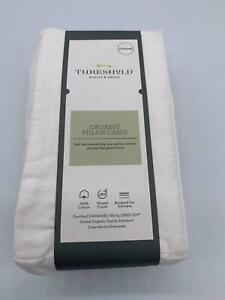 Threshold 300 Thread Count Organic Pillowcase - White (Standard)