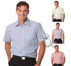 Mens Shirt Size 38 39 40 41 42 43 44 46 48 50 Short Sleeve Stripe Business