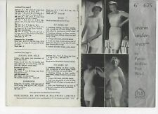 Knitting Pattern for warm underwear  - pre-owned