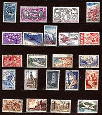 FRANCE 45 Timbres  valeur faciale en ancien et nouveaux francs  82m142a