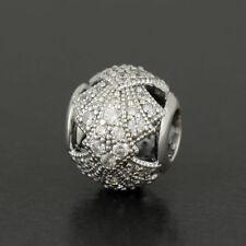 Ciondoli di lusso trasparente PANDORA in argento sterling
