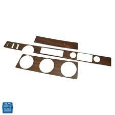 71 Cutlass 442 Dash Vinyl Wood Kit w/ Metal Backing Convertible w/ Cruise Walnut