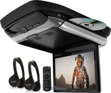 "ALPINE 10.1"" Flip Down WSVGA Monitor With Built In DVD Player   PKG-RSE3HDMI"