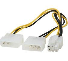 Kingwin PCI-03 8inch 2X4Pin Molex (M) to 6Pin (F) PC-E Extension Power Cable