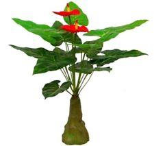 Anthurium Flamingoblume Kunstpflanze 80cm Künstliche Anthurie Pflanze Blume DEKO