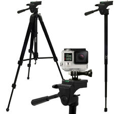 "59"" Extendable 2 in 1 Tripod & Monopod Mount for GoPro Hero 1 2 3 3+ 4 5 Session"