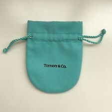 100%Authentic New TIFFANY&CO Turquoise Suede String Tie Jewelry POUCH Duster BAG