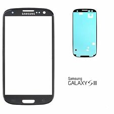 Samsung Galaxy S3 Display Glas i9300 i9305 Schwarz Black Touchscreen Front Glass