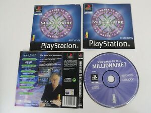 Who Wants To Be A Millionaire (Sony PlayStation 1) PS1 NO Hard Case