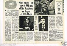 Coupure de presse Clipping 1977 (2 pages) Emission les Jeux de FR3
