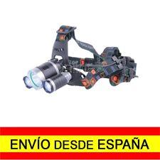 Luz Linterna Cabeza Casco Diadema LED 3x CREE T6 6000 Lm Entrega 48/72 H. a2766