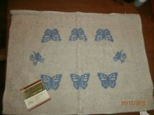 Home Collection Bath Mat Rug  100% Cotton  15 in. x 21 in.   Butterfly