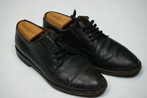 Salvatore Ferragamo Black Pepple Grain Leather Derbies Dress Shoes Sz 10D