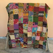 Vintage Patchwork Kantha Bedspread Indian Handmade Quilt Throw Cotton Blanket