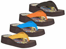 Wedge Textile Flip Flops Sandals & Beach Shoes for Women
