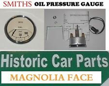 "SMITHS OIL PRESSURE GAUGE - 0-100PSI MAGNOLIA FACE - ""OIL Pressure"""