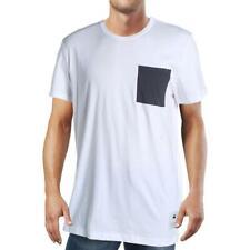 G-Star Raw Mens White Pocket Crewneck Pullover T-Shirt XL BHFO 6268
