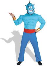 NEW Aladdin Disney Genie Muscle  Adult Costume, Standard One-Size, Standard
