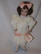 "14"" ""The Grumpy Little Girl With A Curl""  Porcelain Doll  By Artist Diana Effner"
