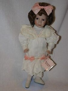 """14"""" """"The Grumpy Little Girl With A Curl""""  Porcelain Doll  By Artist Diana Effner"""
