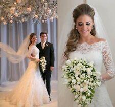 Luxus Schulterfre Brautkleid Ballkleid Spitze Abendkleid Marriage Hochzeitskleid