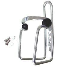 700201 Porta borraccia in alluminio silver con antivibrazione bicicletta X4