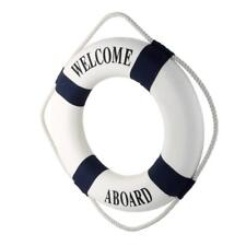 13.8inch WELCOME LIFE BUOY RING PRESERVER NAUTICAL BOAT MARINE THEME DECOR