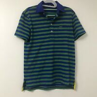 Mens RLX Ralph Lauren S/S Performance Polo Shirt Small Blue Green Striped Golf