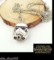 Star Wars Stormtrooper Helmet chrome Pendant necklace  6K003D Force awakens