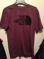 The North Face Mens Half Dome Shirt Size Small Maroon Black