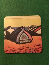 COLLECTABLE UNUSED BEER MAT COASTER - TWO   SIDED - ADNAMS BROADSIDE   (FF60)