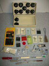 Montgomery Ward Sewing Machine Accessories Box ~ Stitch Cams, Needles, Tools