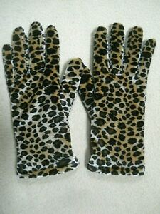 Women's Vintage Leopard Skin Design Gloves / Thinsulate Lined / One Size