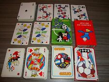 Lot 4 playing cards on football, mickey: etc