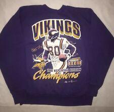 Vintage 1998 NFL Vikings Chris Carter Sweatshirt Super Bowl 33 NFC Champions  90s 2584e7d47