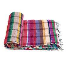 Handloomed Rag Rug Yoga Mat Handmade Saree Chindi Carpet Rectangular Durrie