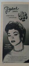 1954 Duane jewelry necklace pan earrings Rita Moreno Yellow Tomahawk Star ad