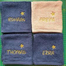 Personalised embroidered face cloth Disney font any Name Birthday kids gift ⭐⭐⭐