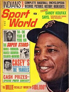 1964 JUNE Sport World baseball magazine, Willie Mays, San Francisco Giants FAIR