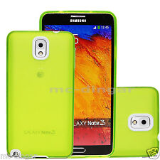 Green UltraThin TPU Soft Rubber PC Bumper Case Cover For Samsung Galaxy Note 3