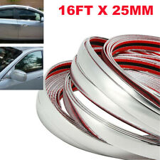 5M 25mm Car Chrome Silver Moulding Trim Strip Door Edge Scratch Guard Protector